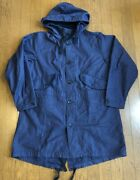 Engineered Garments Highland Parka Mod Coat Men's Size S Navy Made In New York
