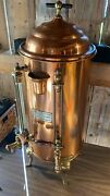 Antique Copper Hotel Coffee Urn - Albert Pick And Company- Made In Chicago, Usa