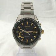 Seiko Astron 8x22-0ag0-2 Date World Time Gps Solar Mens Watch Authentic Working