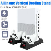 For Xbox One/x/s Dual Charger Stand+cooling Fan Controller Charging Dock Station