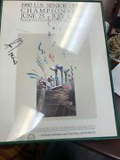 Autographed Poster Jack Nicklaus And Lee Trevino