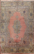 Semi-antique Floral Traditional Oriental Area Rug Wool Hand-knotted Carpet 12x16