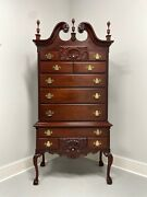 Craftique Solid Mahogany Philadelphia Highboy Chest With Ball In Claw Feet