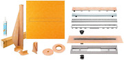 Schluter Kerdi-line Shower Kit With 48in X 48in Shower Tray Kslt1220 And Linea