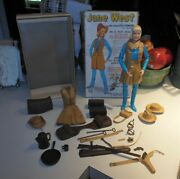 Vintage Marx Jane West Cowgirl + Nice Group Of Accessories Really Nice Group.
