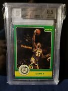 Magic Johnson Rookie Rare Star Playoff In Action Bgs 8.5 Lakers Nba Legend