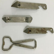 4 Vintage Coors Bottle Openers Usa America's Fine Light Beer Metal Collectible
