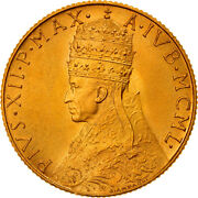 [908066] Coin, Vatican City, Pius Xii, 100 Lire, 1950, Ms, Gold, Km48