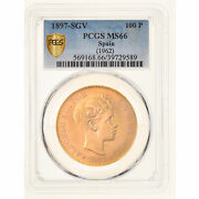 [908319] Coin Spain Alfonso Xiii 100 Pesetas 1962 Madrid Pcgs Ms66