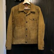 Filson Menand039s Brown Tin Cloth Cotton Canvas Field Jacket Size Small S Vintage