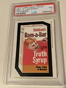 1977 Topps Wacky Packages 16th Series Ram-a-liar Psa 7