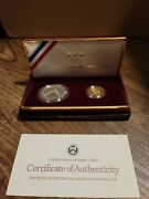 U.s. Mint 1988 Olympic Coins - 1988 Proof Silver Dollar And Gold Five Dollar