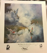 Andldquopappyandrdquo Boyington Scores His First Victory Lithograph By William Reynolds Signed