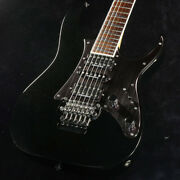 Used Ibanez Rg2550z Galaxy Black Electric Guitar With Hard Case Tremolo Arm