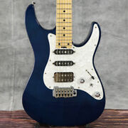 Used Schecter Bh 1 Std 24 Electric Guitar Deep Blue Color With Soft Case