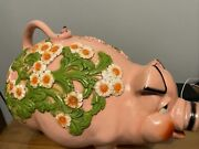 Pink Vintage Piggy Bank Universal Statuary Corp Chicago 1976
