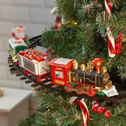 Electric Christmas Tree Train Set Battery Operated Holiday Home Decoration 75cm