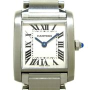 Auth Tank Francaise Sm W51008q3 Silver Ss 456342ce Womens Wrist Watch