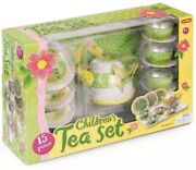 Children's Tin Tea Set Role Play Game Toy Gift Classic Retro Novelty Childs Kids