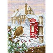 Luca-s Counted Cross Stitch Kit Red Mail Box,24x33,5cm, Diy