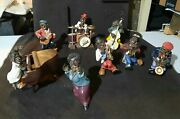 Unbranded Vintage Jazz Band Figurines - 10 Pieces