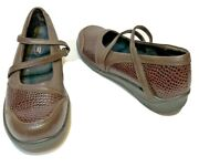 Aetrex Customized Comfort Womens Brown Mary Janes Embossed Animal Print Size 7m
