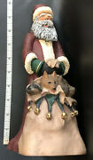 Vintage Santa Claus Christmas Decor Figure With Animals Ten Inches Tall