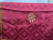 Antique Gold And Red Christian Symbolism Catholic Quality Church Tapestry Gothic