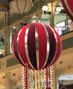 Bethlehem Lighting 7.5and039 Red Gold Inflatable Christmas Ornament Display Decor