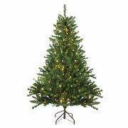 Northlight 10and039 Canadian Pine Artificial Christmas Tree Clear Candlelight Led