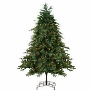 Northlight 7.5and039 Pre-lit Aurora Spruce Artificial Christmas Tree - Clear Lights