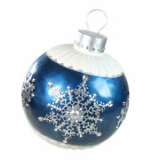 Northlight 37� Led Blue Ball Christmas Ornament Snowflake Outdoor Decoration