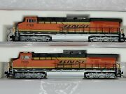 Fox Valley Models N Scale Es44ac Bnsf Lot Of Two Locomotives 7768,7505dcc Ready
