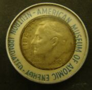 1956 Neutron Irradiated Dime Silver Roosevelt Museum Of Atomic Energy
