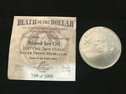 Silver Shield Death Of The Dollar Series 4 2017 Blood For Oil One Ounce Round