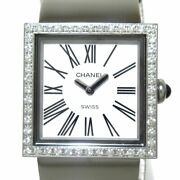 Auth Mademoiselle H0830 Silver Ss Y.h.90178 Womens Wrist Watch
