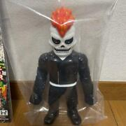 Ghost Rider Real Head Toy Soft Vinyl Hikidashitoy Marvel With Box Fedex Used