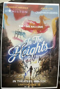 Anthony Ramos Melissa Barrera Cast Signed In The Heights 11x17 Poster Fabric