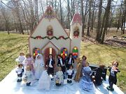 Byers Choice Carolers Lot Of 20 Wedding Bride, Groom, Party, Band, Church, Cake