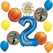 Space Jam Party Supplies 2nd Birthday Balloon Bouquet Decorations