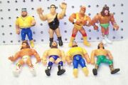 Wwf Hasbro Action Figure Lot Of 8 , Ultimate Warrior 2x , Andre The Giant