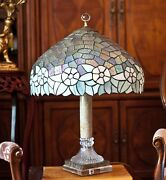 Antique Vintage Large 20 D Style Table Lamp Crystal Marble Stand 30 H