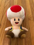 Genuine Super Mario Bros Red Toad Stuffed Plush All Star 8 Little Buddy Used