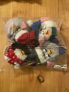 Set Of 4 Furby Christmas Ornaments New Factory Sealed W/ Tags 1999 Vintage Plush