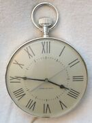 Retro General Electric Pocket Watch Styled Chrome Kitchen Wall Clock 8