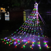 Outdoor Christmas Decorations Star Lights String320 Led 16.4 Ft Multicolor
