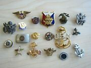18 Us American Navy Naval Anchor Pin Petty Chief Officer Badge Gold Silver Star