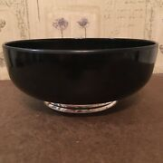 Vintage Towle Silversmith Sterling-mounted Melamine Bowl