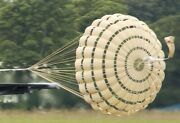 Military 16ft. Ring Slot Deceleration Parachute With Pilot Chute And Bag.