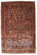 Handmade Antique Oriental Rug 3.9and039 X 5.3and039 119cm X 161cm 1920s - 1b823